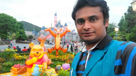 DisneyLand Resort rear Garden